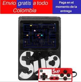 Mini consola juegos  retro portátil tipo Game boy + Control rojo