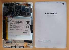 PANTALLA LCD, PLACA ( TARJETA ) DE TABLET ADVANCE PR4555 AT-A16K - REPUESTOS