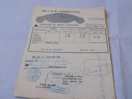 ANTIGUA FACTURA DE OBRAS SANITARIAS DE LA NACION AÑO 1931