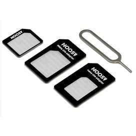Adaptador Chip X3 Micro Sim Nano Sim Clip La Plata