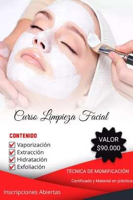 Curso de limpieza facial