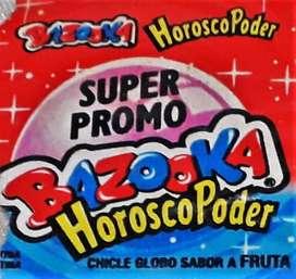 Chicle Bazooka Horoscopoder Envoltorio Y Desafío Visual