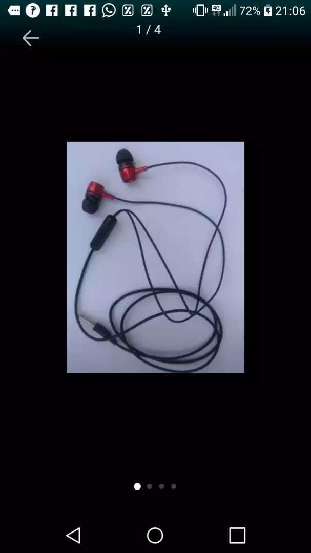 Auricular (Samsung/JBL/Sony,/Panasonic) usados