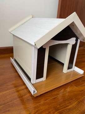 Casa en madera para perro raza pequeña