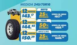 2x4 LLANTA NEXEN TIRE 245/75R16 111S PARA CHEVROLET D-MAX 4x4 DIESEL