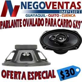 PARLANTE AMPLIFICADO DE 6X9 PULGADAS PARA CARROS