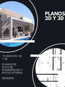 Diseño de planos 2D y 3D