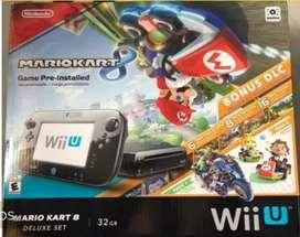 Nintendo Wii U 32gb versión Mario Kart 8 + 2 Mandos Plus + 8 juegos originales