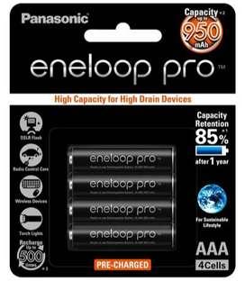 Pilas Recargables Eneloop Pro Aaa Panasonic Nimh 950 mah 2020