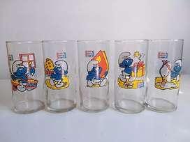 Vasos de colección Los pitufos
