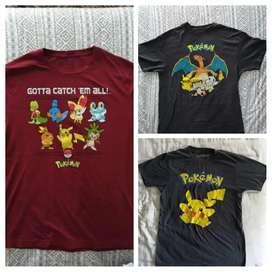 CAMISETAS POKEMON ORIGINALES TALLAS VARIAS