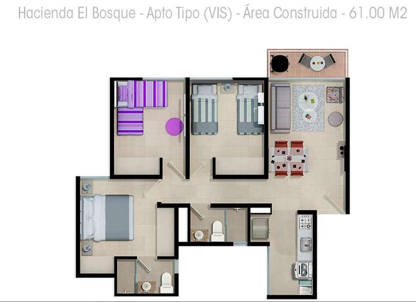 CESIÓN de apartamento Torre 2 apto 502 Conj Hacienda el Bosque $14 MILLONES 0