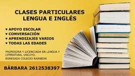 Clases particulares de lengua e inglés a domicilio