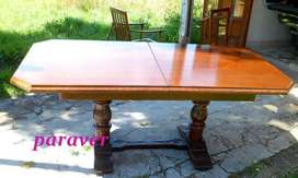 Magnifica mesa comedor español restaurada a nuevo extensible