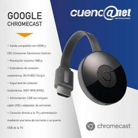 Google Chromecast model 2015 Coral Negro