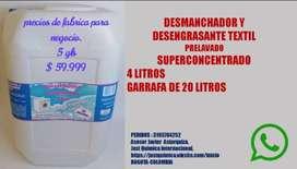 DESMANCHADOR Y DESENGRASANTE TEXTIL PARA ROPA BLANCA Y DE COLOR DESPERCUDE LAS PRENDAS PRELAVADO SUPERCONCENTRADO $59.99
