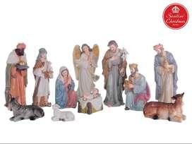 Pesebre Navidad x11 Medida: 25.5 cm Marca: Santini