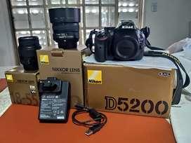 Camara Nikon D3200 18-55mm VR Kit + 50 mm + Parasol