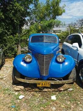 Carro antiguo Chevrolet mod. 1938 coupe, motor V8, mecanico