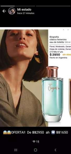 OFERTA perfume natura BIOGRAFIA.