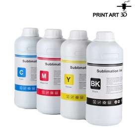 Tinta de sublimación premium x 500 ml kit x 4 colores (Cyan, Magenta, Yellow, Black)