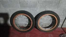Aros de moto de aluminio doble ceja rin 18