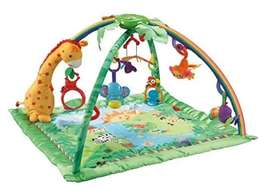 Fisher-Price Rainforest Melodies and Lights Deluxe Gym - Usado