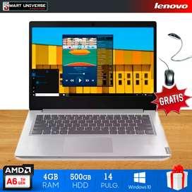 Laptop Lenovo S145 A6 14 Pulg 4gb 500gb Windows 10 Gris  REGALO