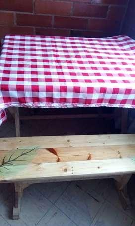 Mantel a cuadro para decoración de mesa o picnic