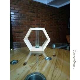 Solitario con Base Hexagonal