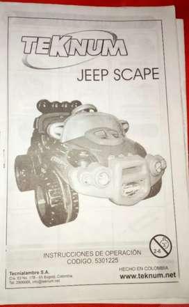 Vendo carro eléctrico jeep scape