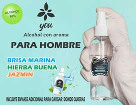 Alcohol con aroma uso diario