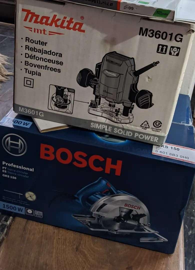 Sierra Circular Bosch GKS150 (1500W) + Router Makita M3601G