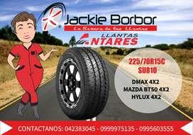 Llanta 225/70R15C ANTARES SU810 para dmax 4x2 mazda bt50 4x2 hylux4x2 llantas jackie borbor