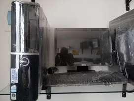 Oferta computadoras dell intel dual con disco 160 gb monitor 17 teclado maosuo garantía