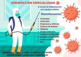 Desinfección para todas las áreas
