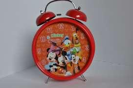 reloj despertador campana amigos de mickey