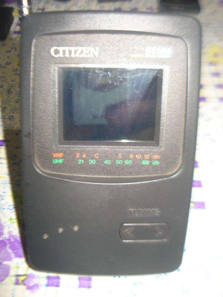 Mini Tv Color Lcd Citizen St 555 Funciona Leer Bien