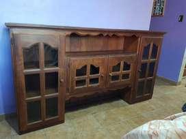 Mueble Vitrina Algarrobo