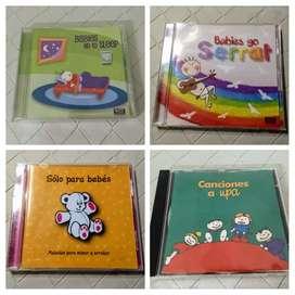4 CDs de música para bebés y niños. Original