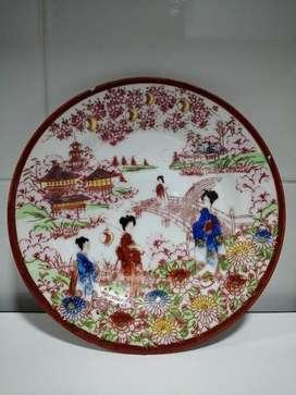 Antiguo Plato en Porcelana Japonés