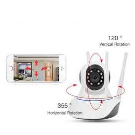 Camara Vigilancia Seguridad Ip Robotica 3MPX 3 ANTENA WIFI FULLHD CCTV