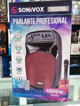 """Cabina Sonivox Profesional 6.5"""" + Micrófono y Control"""