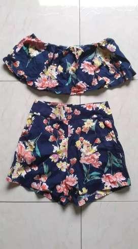 Conjunto de short y blusa