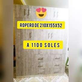 En venta ropero de 210x155x52 tacna