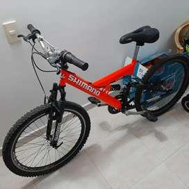 Bicicleta gw shimano double shock