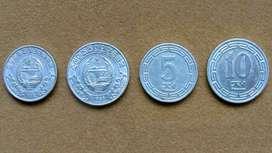 Monedas de 5 y 10 chon Corea del Norte año 1959