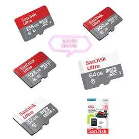 MICRO SD SANDISK CLASE 10 ORIGINALES 16GB, 32GB, 64GB, 128GB, 200GB, 256GB, PRECIOS EN LA DESCRIPCIÓN