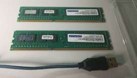 Memorias Ddr3 4gb 1333 mhz
