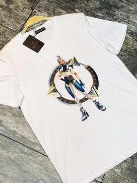 Camisetas Louis Vuitton Algodon Blanco Estampado Envio Gratis Recibimos Todos Los Medios De Pago